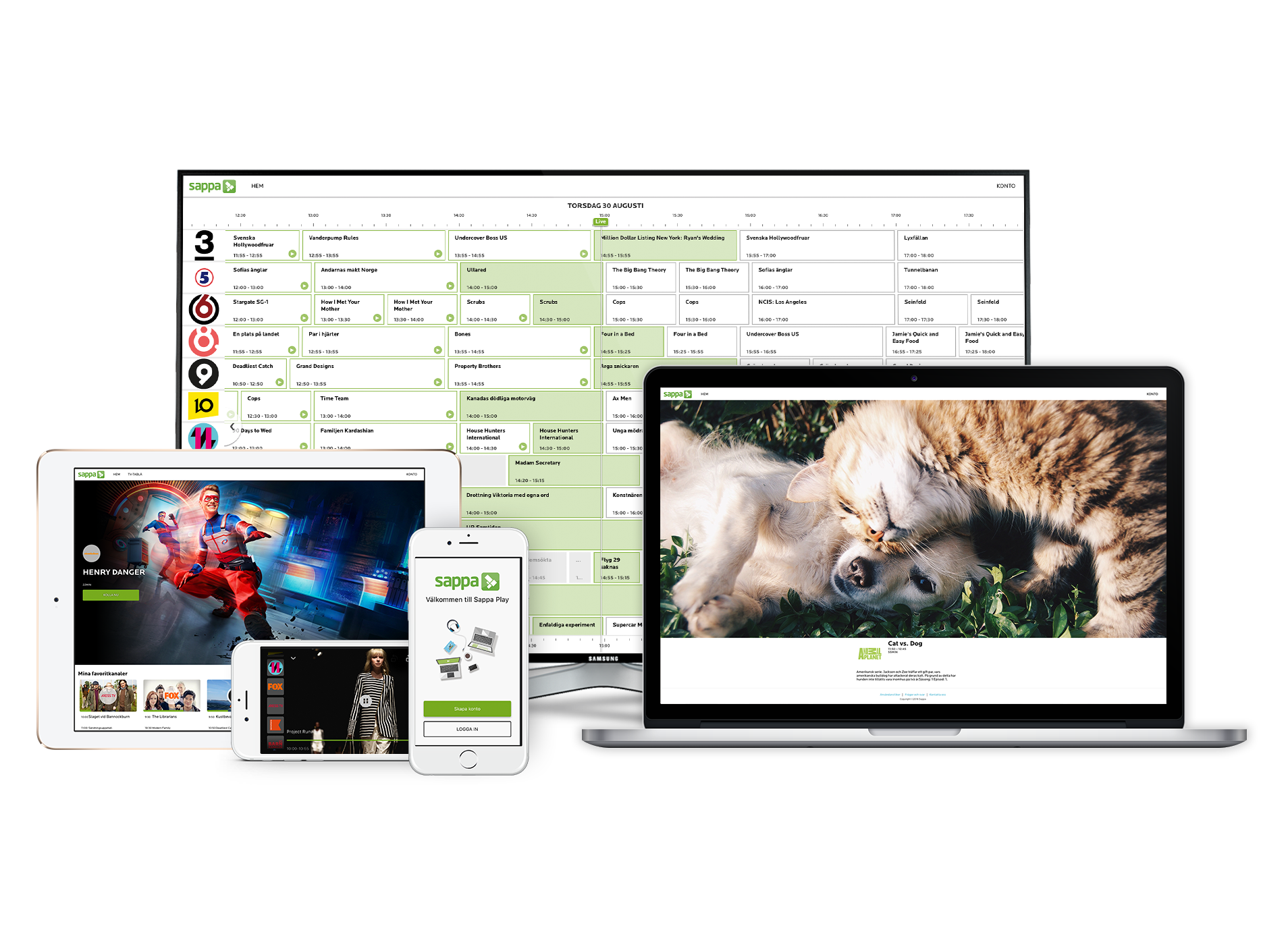 Sappa TV Everywhere and IPTV solution | Live OTT service